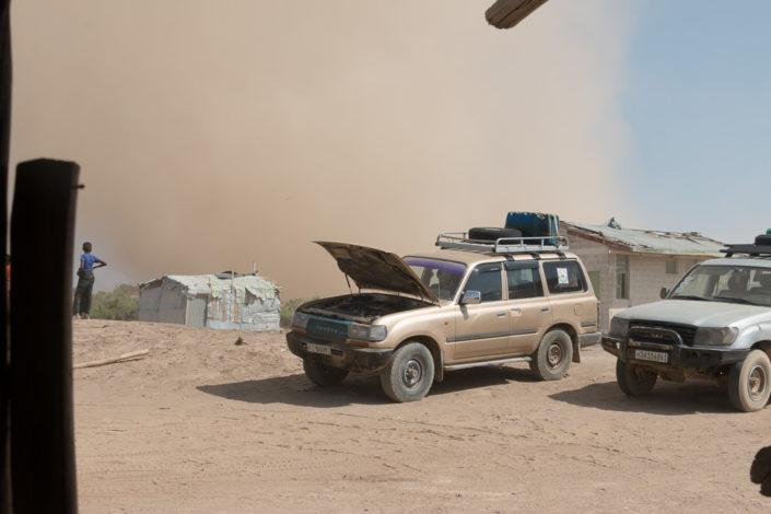 Sandsturm in der Danakil