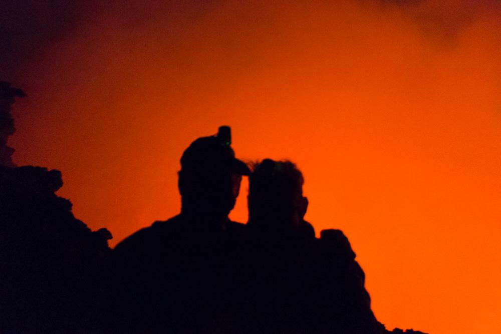 Dirk & Dodo am Kraterrand des Erta Ale
