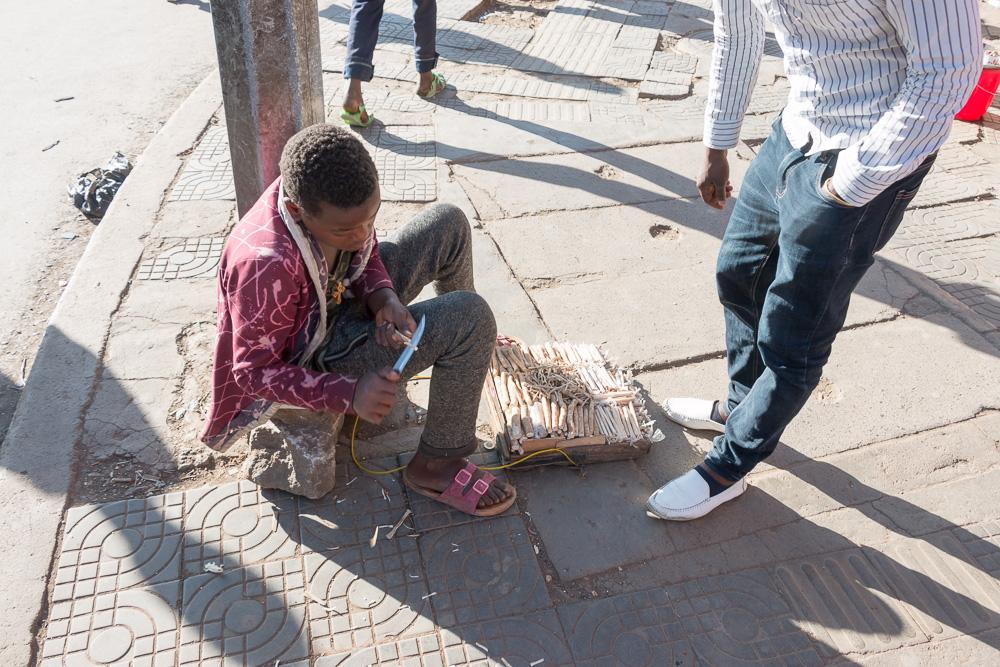 Zahnbürsten Verkäufer Addis Abeba
