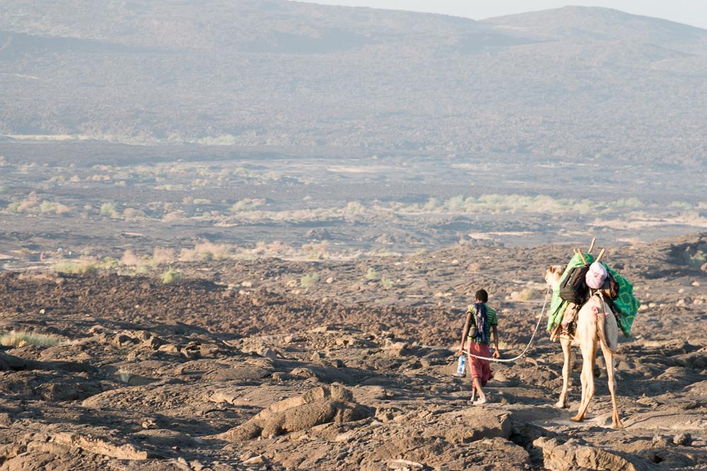 Abstieg vom Erta Ale - Danakil