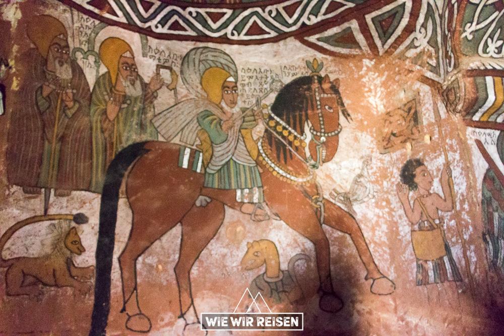 Wandmalerei Abuna Yemata Äthiopien