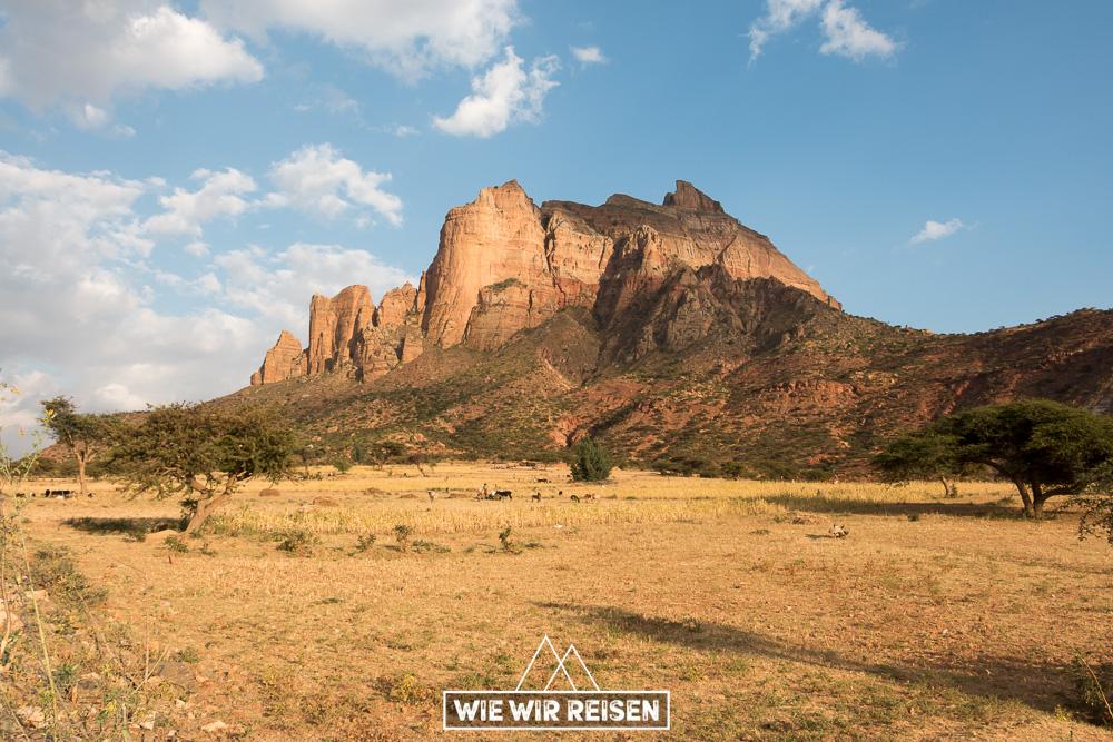 Die Gheralata Mountains in Äthiopien