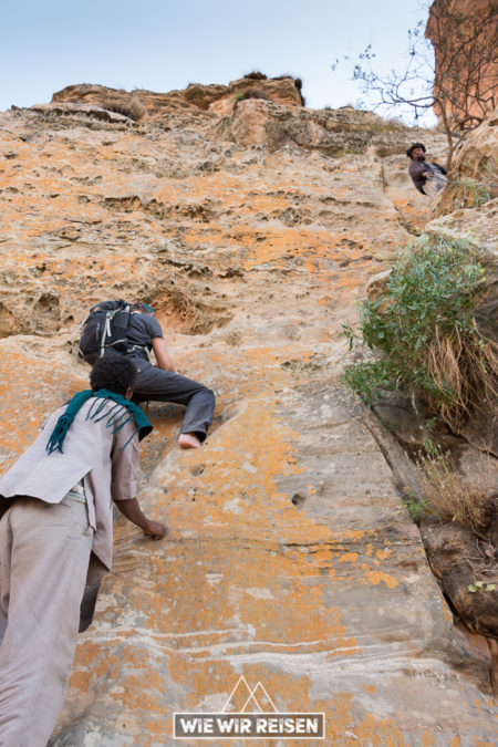 Ketterpassage zur Abuna Yemata
