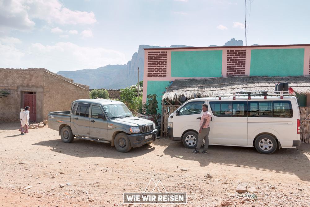 Privatwagen in Tigray
