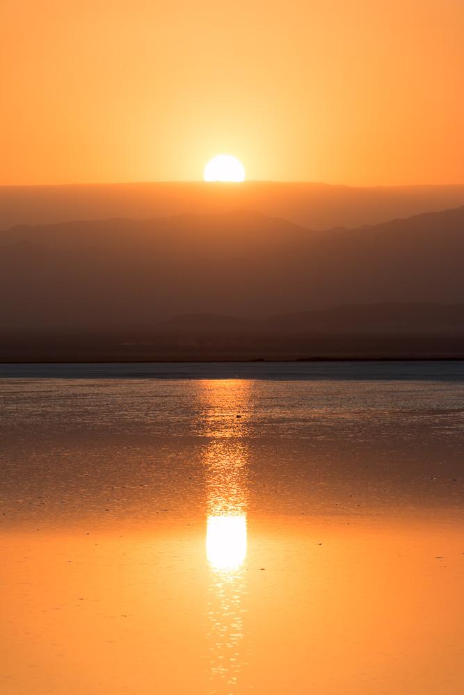 Spiegelung Sonnenuntergang Danakil
