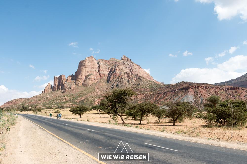 Straße nach Megab in dr Gheralta Region