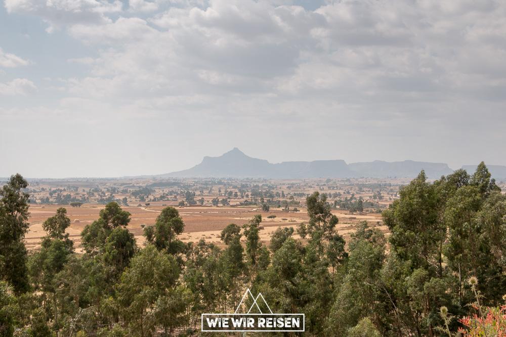 Blick in die Ferne in der Tigray Region