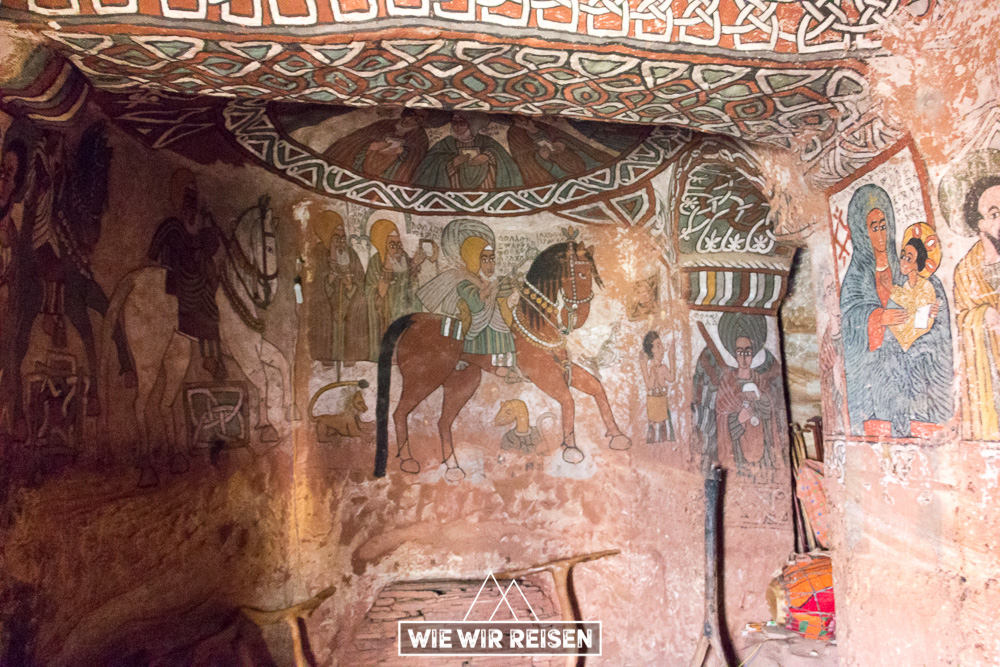 Wandmalerei Felsenkirche Abuna Yemata