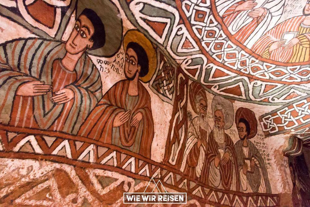 Wandmalereien in der Felsenkirche Abuma Yemata