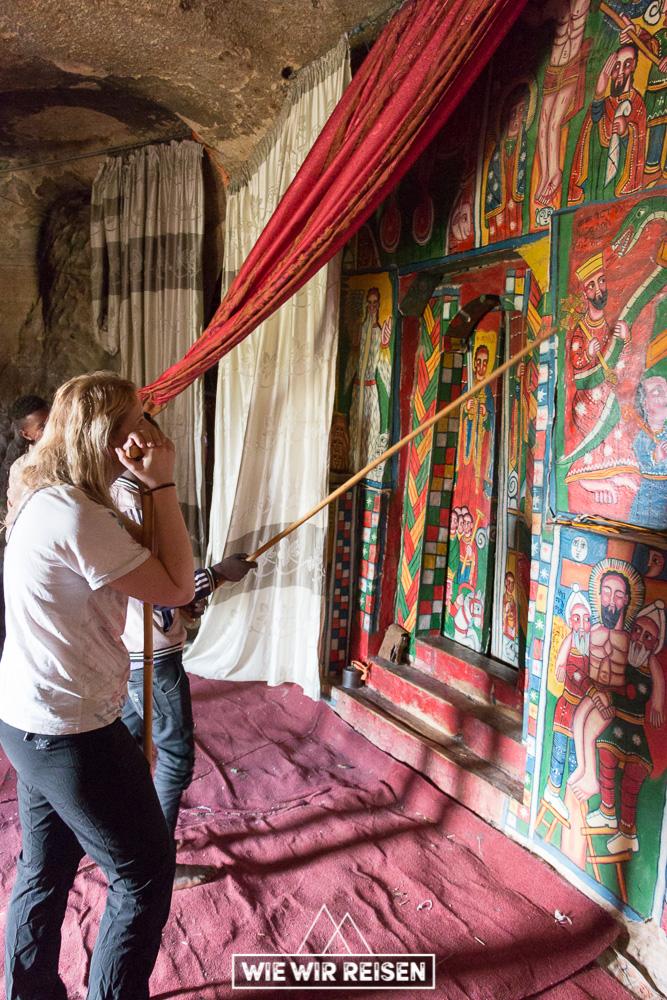 Wandmalereien in der Felgenkirche Mikael Malahi Zengi