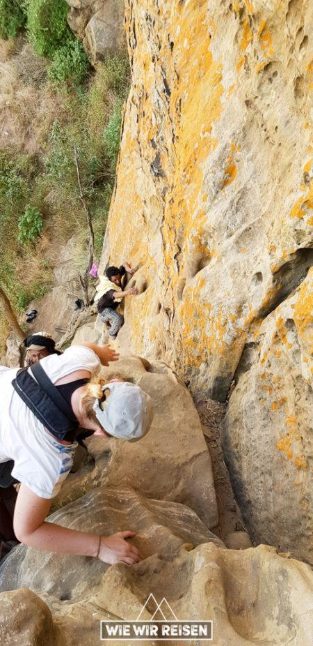 Klettern Abuna Yemata Gheralta Tigray
