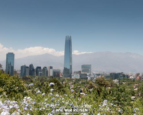 Blick auf Sanhattan in Santiago de Chile