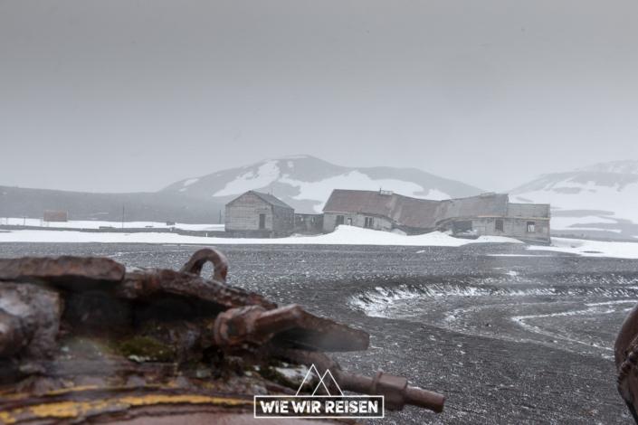Verlassene Ruinen von Whalers Bay