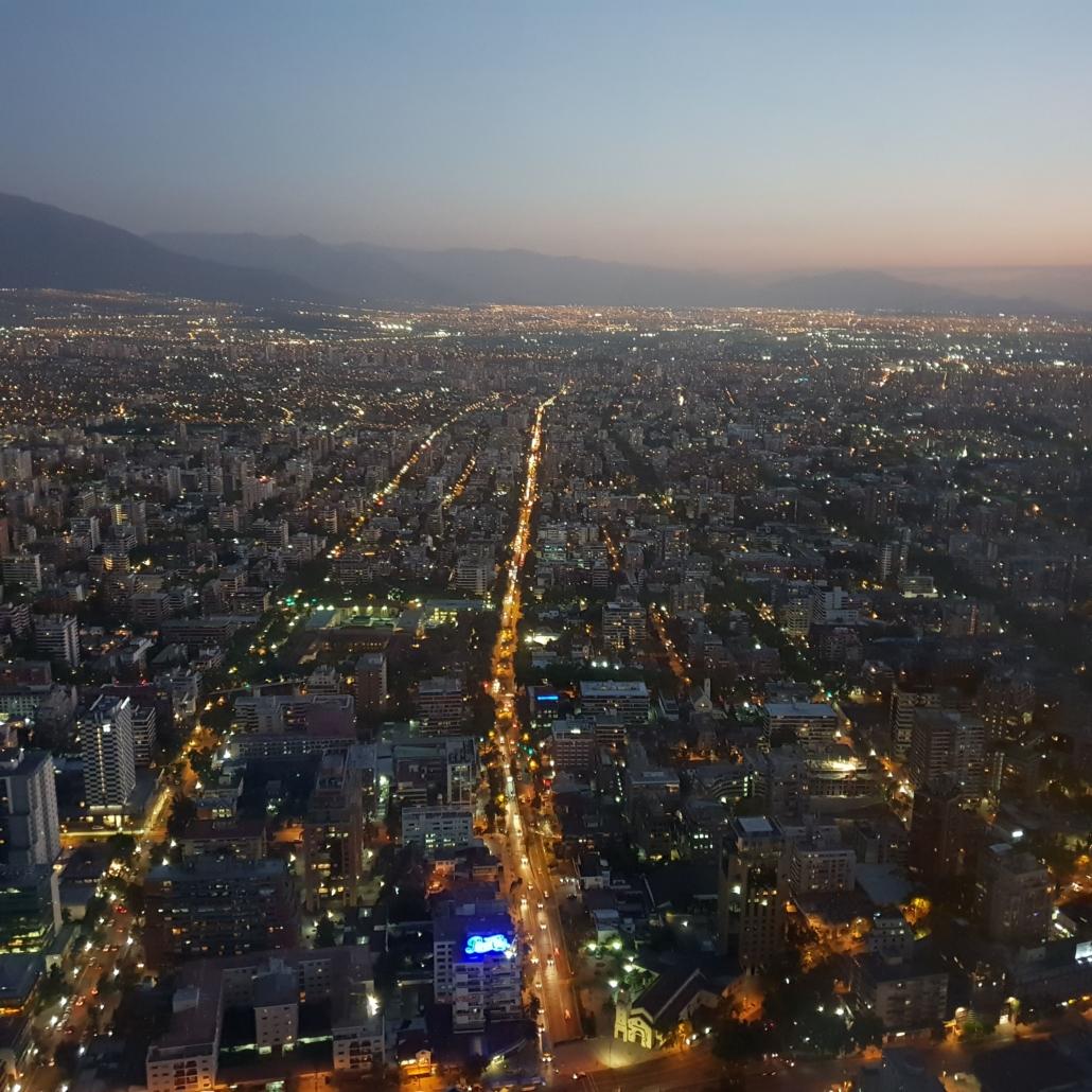 Santiago de Chile Blick vom Sky Constanera