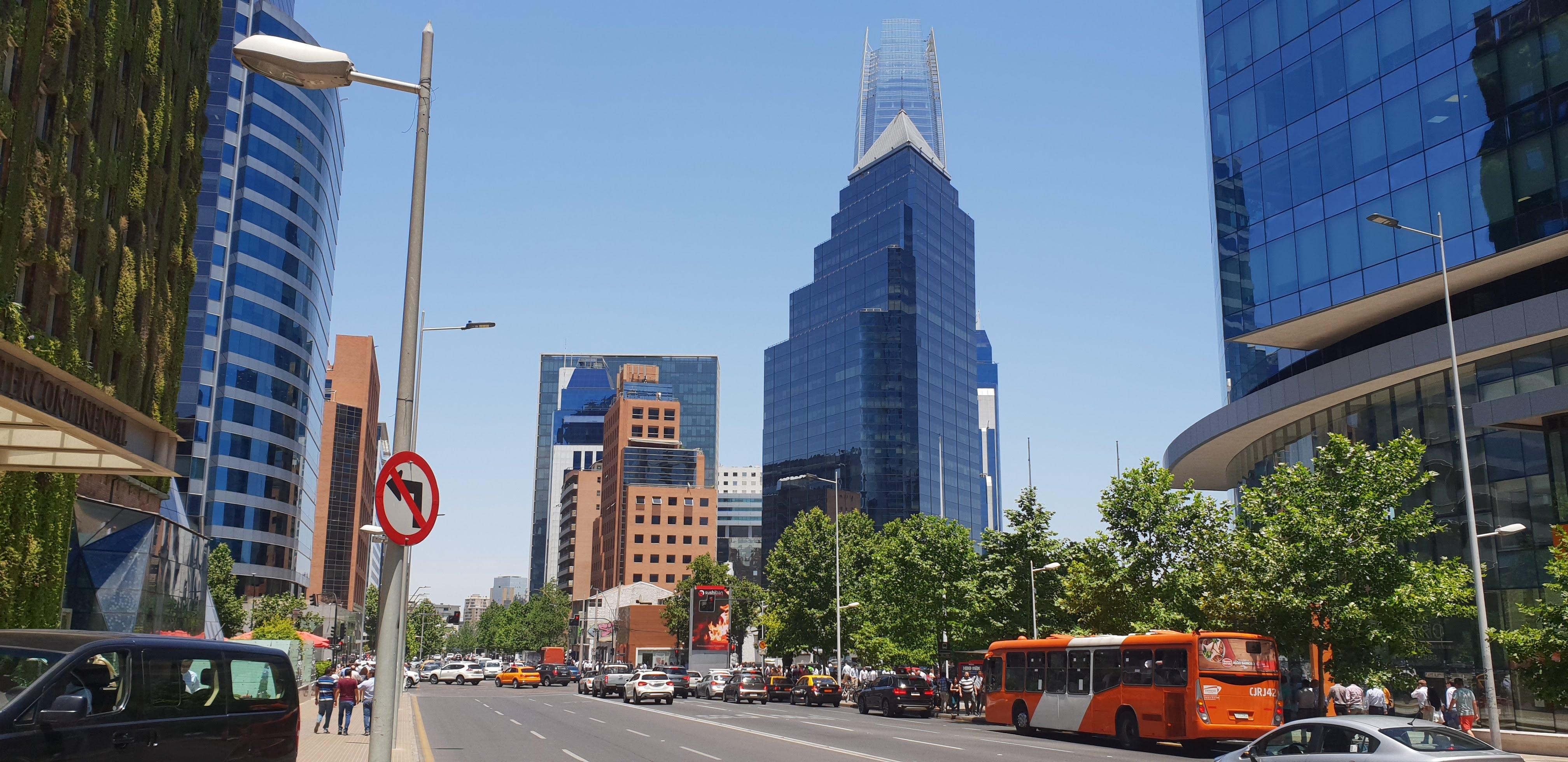 Hotel Intercontinental im Banken Viertel von Santiago de Chile