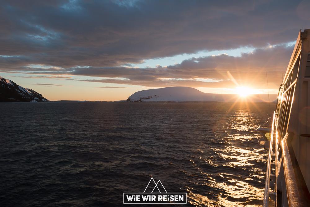 Sonnenuntergang Antarktis