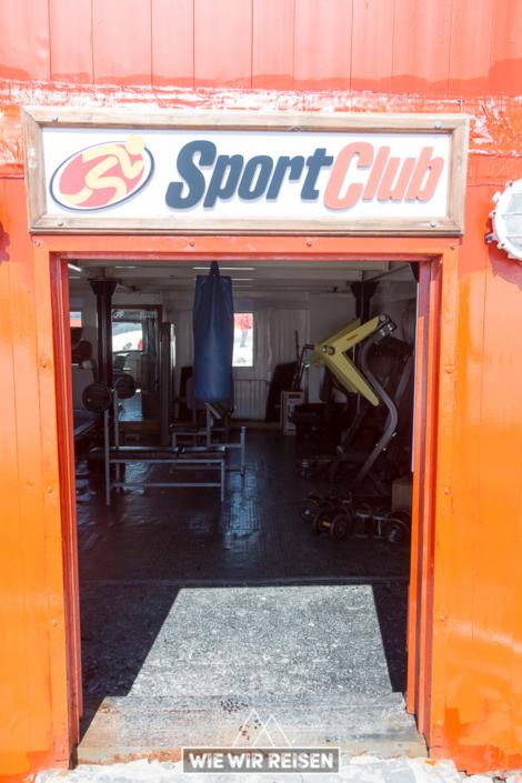 Fitnessstudio in der Antarktis