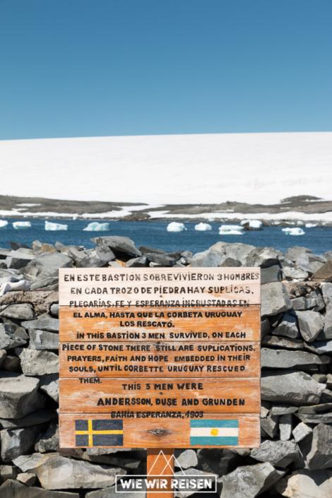 Gedenktafel zur schwedischen Antarktis Expedition