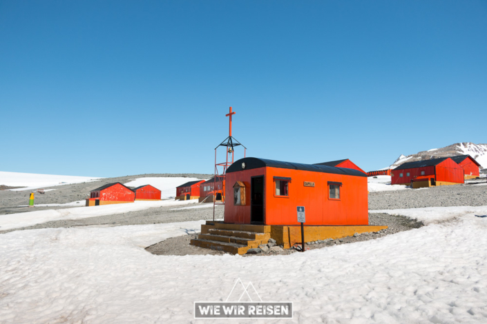 Kirche auf der Esperanza-Station in der Antarktis