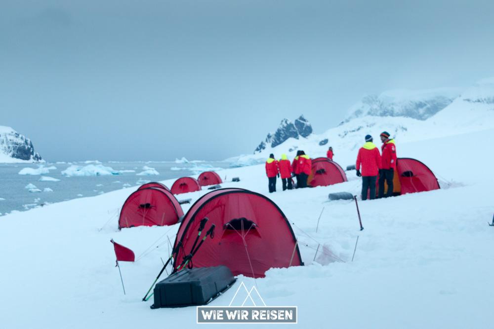 Amundsen Nacht in der Antarktis