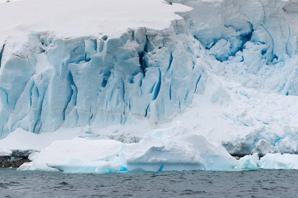 Gletscher in der Nähe von Gonzales Videla